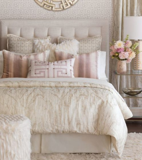 Luxury Bedroom - textured fabrics, pillows, duvets, throws