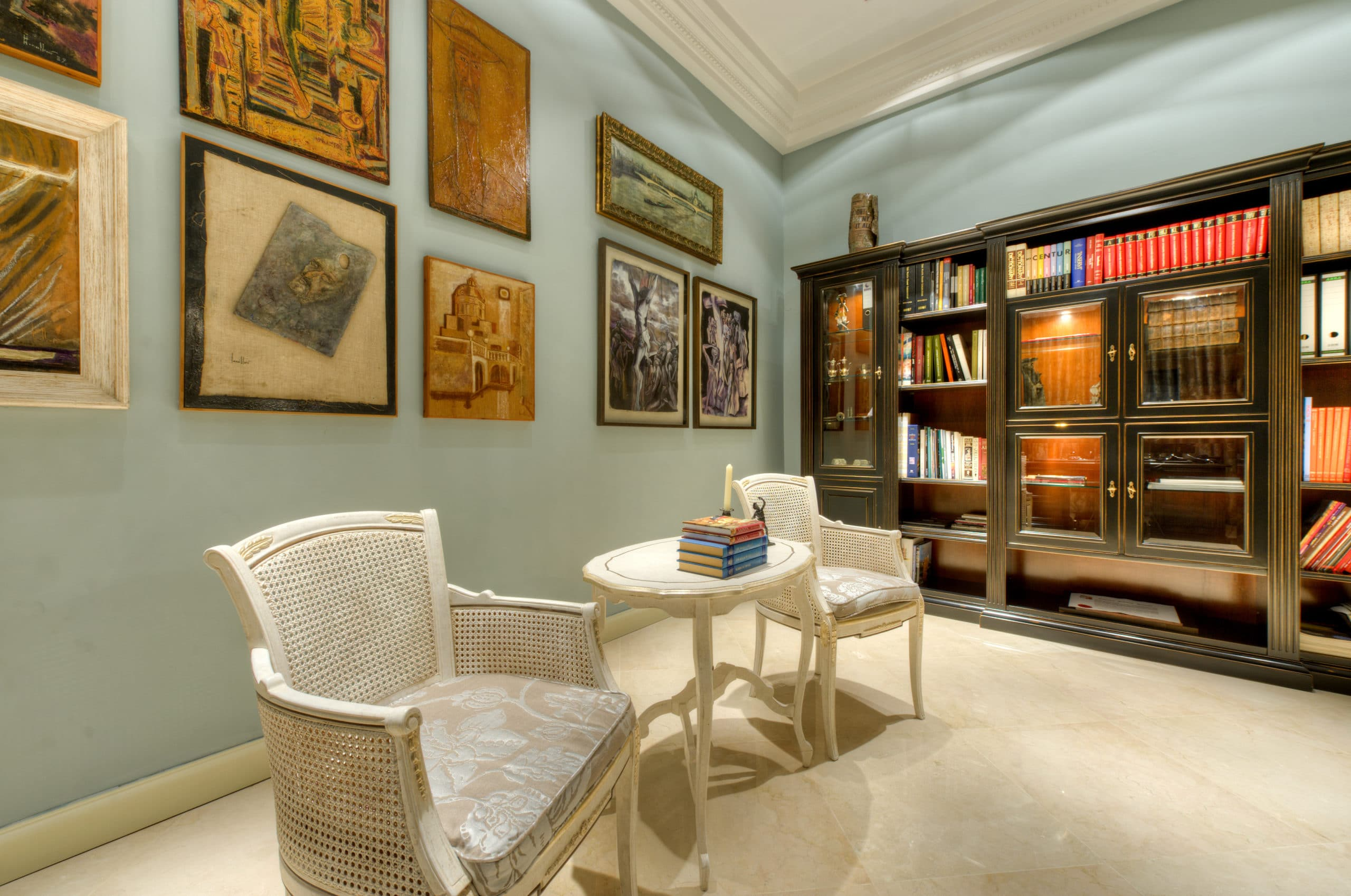 Study – paintings, art, library