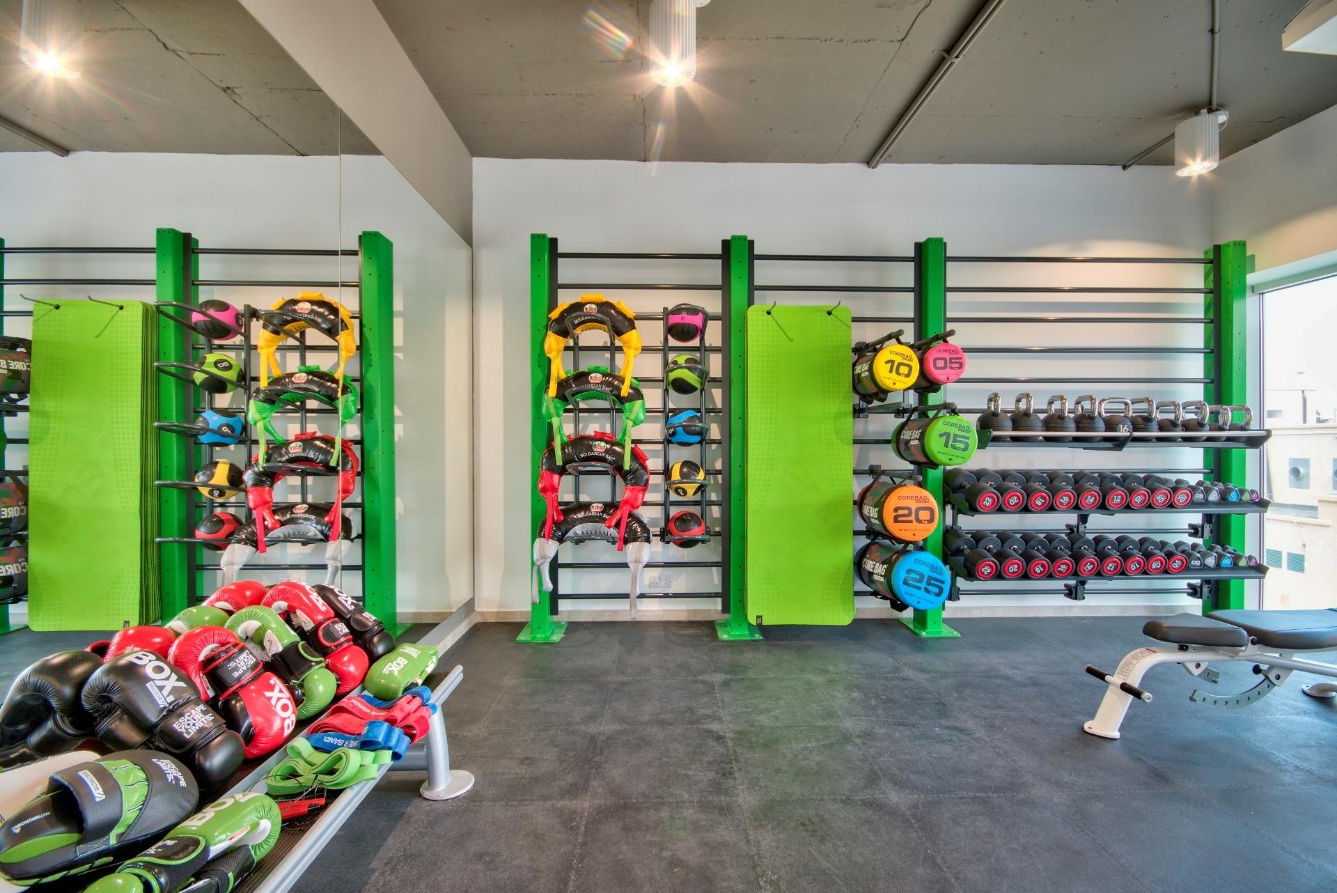 Gym – workout space, colour scheme