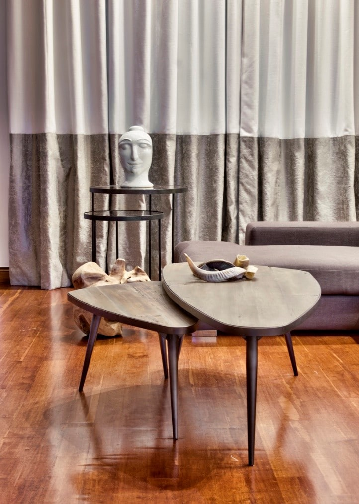 Living Room – coffee tables. accessories, wooden flooring